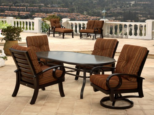 Mallin Patio Furniture Replacement Slings seating sets costco with Wooden S