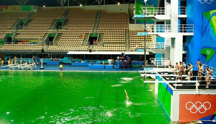 even olympic pools can turn green
